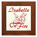 Isabelle On Fire Framed Tile