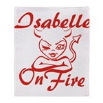 Isabelle On Fire Throw Blanket