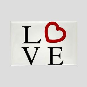 Love Logo Rectangle Magnet
