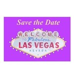 Las Vegas Save the Date Postcards pkg of 8