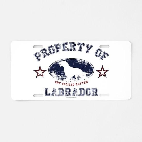 Labrador Aluminum License Plate