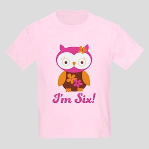 I'm Six Retro Owl Kids Light T-Shirt