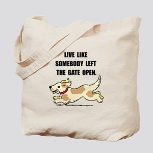 Dog Gate Open Tote Bag