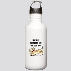 Dog Gate Open Stainless Water Bottle 1.0L