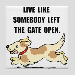 Dog Gate Open Tile Coaster