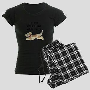 Dog Gate Open Women's Dark Pajamas