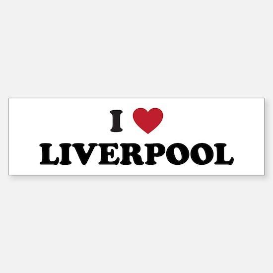 I Love Liverpool Sticker (Bumper)