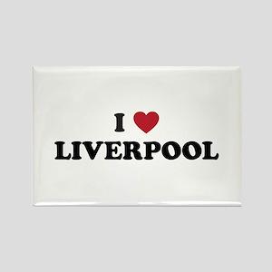 I Love Liverpool Rectangle Magnet