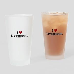 I Love Liverpool Drinking Glass