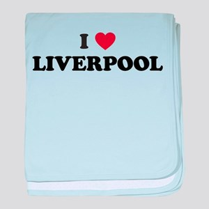 I Love Liverpool baby blanket