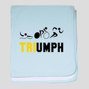 Tri Triumph baby blanket