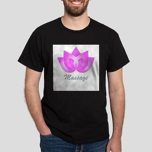 Massage Lotus Flower Dark T-Shirt