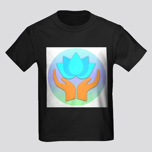 Lotus Flower - Healing Hands Kids Dark T-Shirt