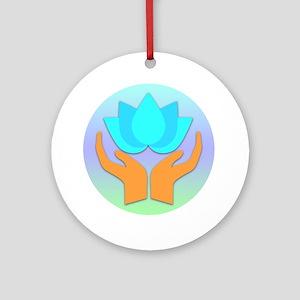 Lotus Flower - Healing Hands Ornament (Round)