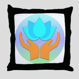 Lotus Flower - Healing Hands Throw Pillow