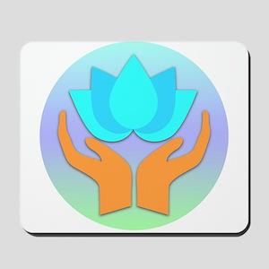Lotus Flower - Healing Hands Mousepad