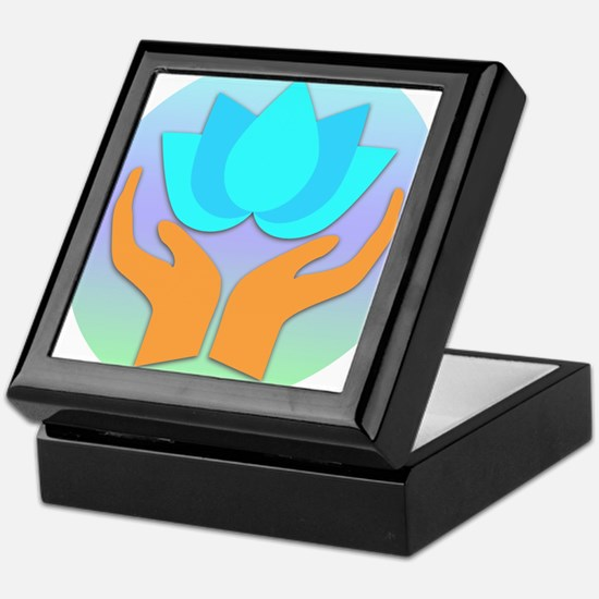 Lotus Flower - Healing Hands Keepsake Box