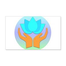 Lotus Flower - Healing Hands Wall Decal