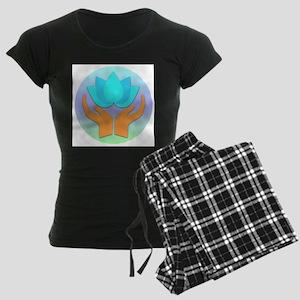 Lotus Flower - Healing Hands Women's Dark Pajamas