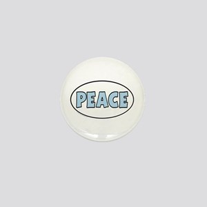 Unique Euro Oval Peace Mini Button