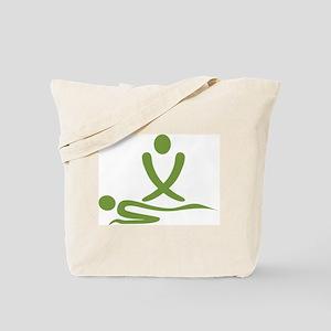 Green massage design Tote Bag