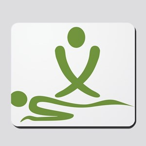 Green massage design Mousepad