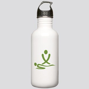 Green massage design Stainless Water Bottle 1.0L