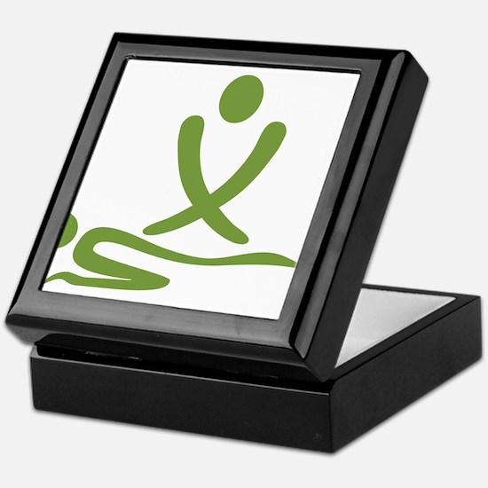 Green massage design Keepsake Box