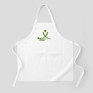 Green massage design Apron