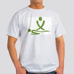 Green massage design Light T-Shirt