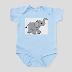 Infant Bodysuit with Baby Elephant Graphic