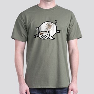 Lazy Pig! Dark T-Shirt
