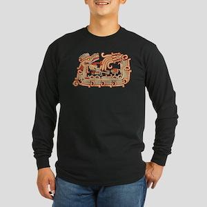 Xochicalco Serpent Long Sleeve Dark T-Shirt
