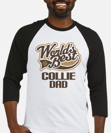 Collie Dad (World's Best) Baseball Jersey