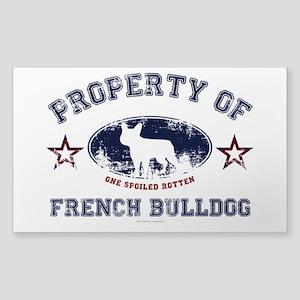French Bulldog Sticker (Rectangle)