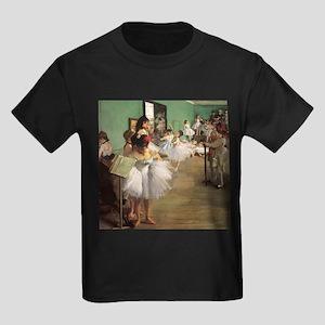 Edgar Degas Dancing Class Kids Dark T-Shirt