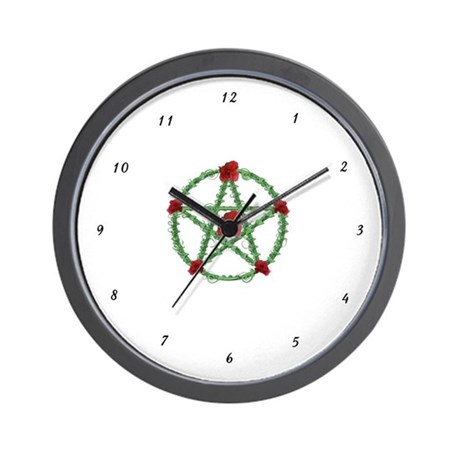 Rose Pentacle Wall Clock