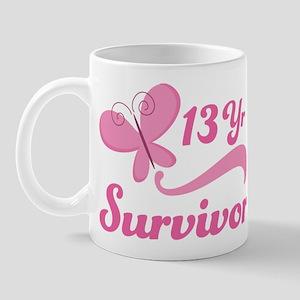 Breast Cancer 13 Year Survivor Mug