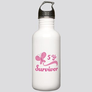 Breast Cancer 5 Year Survivor Stainless Water Bott