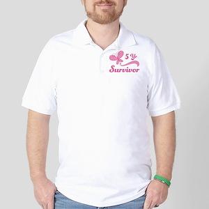 Breast Cancer 5 Year Survivor Golf Shirt