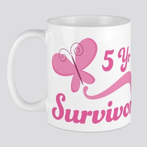 Breast Cancer 5 Year Survivor Mug
