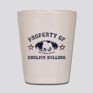 English Bulldog Shot Glass