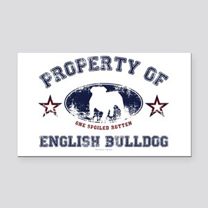 English Bulldog Rectangle Car Magnet
