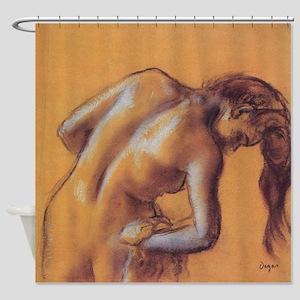 Edgar Degas Bather Drying Herself Shower Curtain