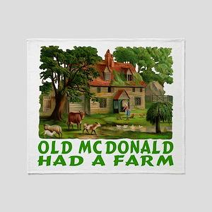 OLD MC DONALD HAD A FARM Throw Blanket
