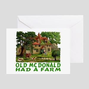 OLD MC DONALD HAD A FARM Greeting Card