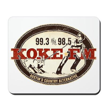 KOKE FM logo Mousepad
