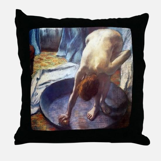 Edgar Degas The Tub Throw Pillow