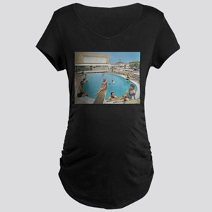 Eden Roc Motel 1950's Pool in Wi Maternity T-Shirt