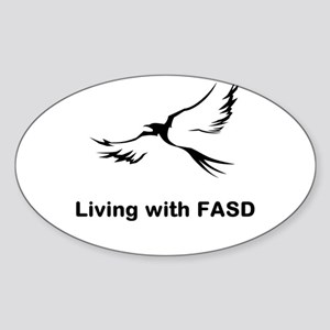 LIVING with FASD Sticker (Oval)